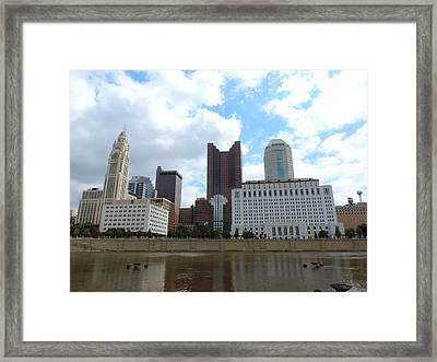 Columbus Skyline Framed Print by Cityscape Photography