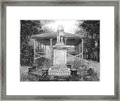 Columbus Statue Framed Print