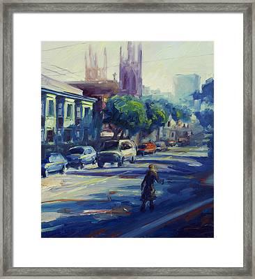 Columbus Street Framed Print by Rick Nederlof