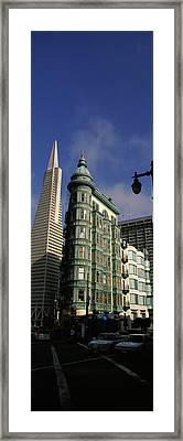 Columbus Tower And Transamerica Pyramid Framed Print by Panoramic Images
