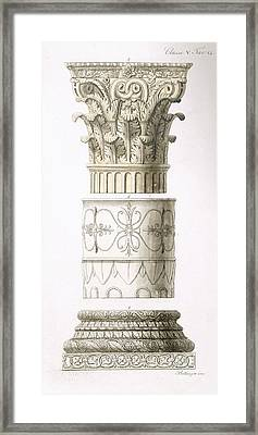 Column And Capital Framed Print by English School