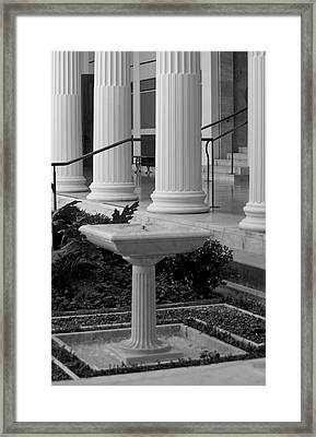 Column Entrance Framed Print by Ivete Basso Photography