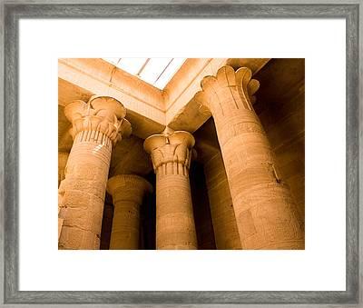 Column Head Art Framed Print
