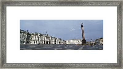 Column In Front Of A Museum, State Framed Print by Panoramic Images