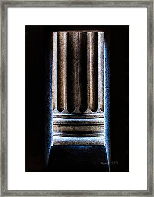 Column Number Nine  Framed Print