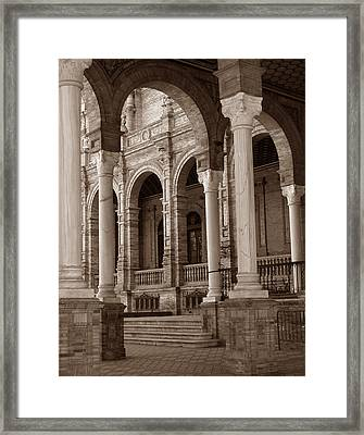 Columns And Arches Framed Print