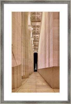 Columns And Monuments Framed Print by Metro DC Photography