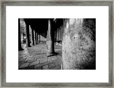 Columns At The Church Of Nativity Framed Print by David Morefield
