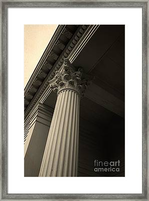 Columns Framed Print by Edward Fielding