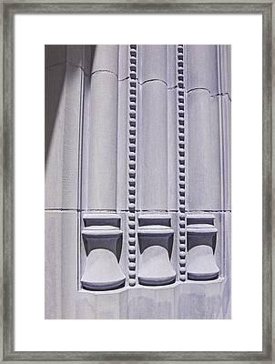 Columns In Sunshine And Shadow Framed Print by Barbara McDevitt
