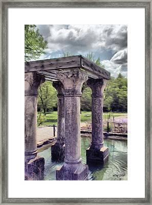 Columns In The Water Framed Print by Jeff Kolker