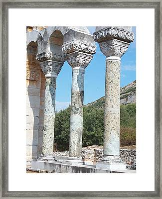 Framed Print featuring the photograph Columns by Marilyn Zalatan