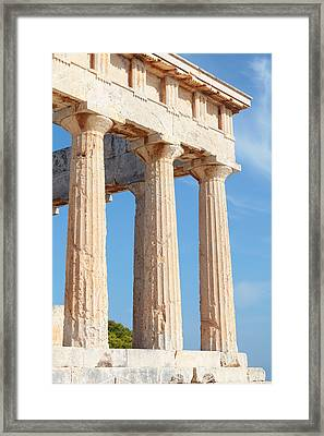 Columns Of Aphaia Framed Print