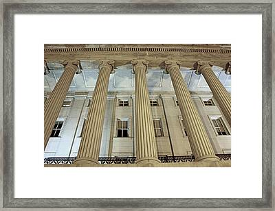 Framed Print featuring the photograph Columns Of History by Suzanne Stout