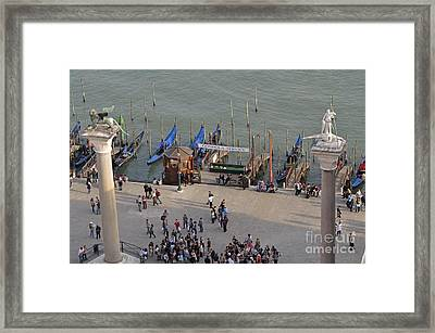 Columns Of San Marco Left And San Teodoro Framed Print