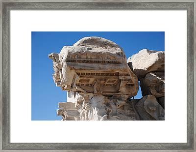 Columns - Pergamum Framed Print by Jacqueline M Lewis