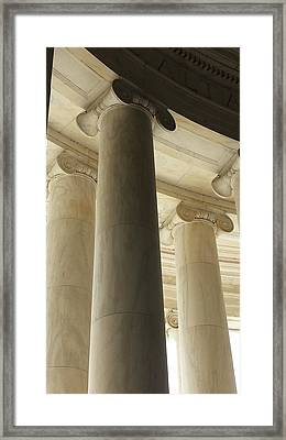 Columns Stand Guard Framed Print