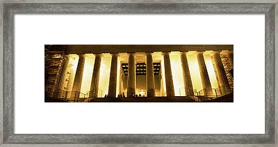 Columns Surrounding A Memorial, Lincoln Framed Print