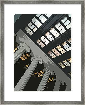 Columns Framed Print by Julio Lopez