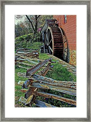 Colvin Run Mill Framed Print by Suzanne Stout