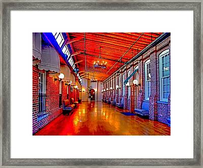 Interior  The Galleria Red Bank    Framed Print by Rick Todaro