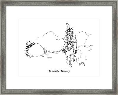 Comanche Territory Framed Print by William Steig