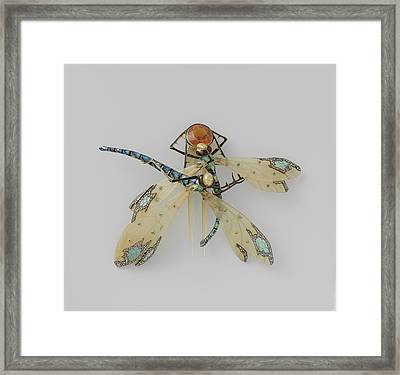 Comb In The Form Of Two Dragonflies, Lucien Gaillard Framed Print