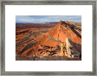 Comb Ridge At Sunset - Bluff - Utah Framed Print