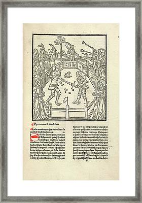 Combat Framed Print by British Library