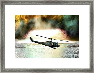 Combat Helicopter Framed Print