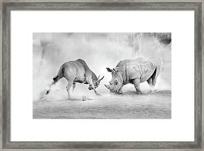 Combat. Framed Print