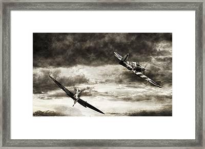 Combat Spitfires Framed Print by Peter Chilelli