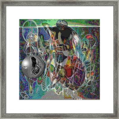 Combination Based On Steppinwolf And Vision Pastel Paintings Framed Print by George Curington