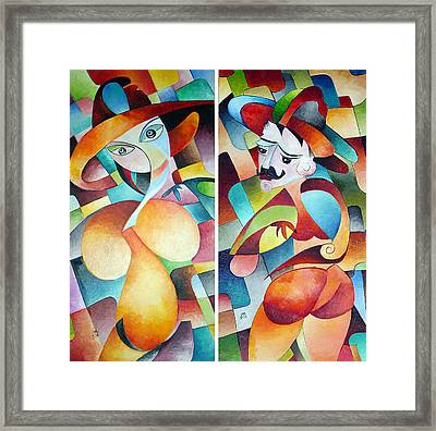 Framed Print featuring the painting  Man And Woman by Dorothy Maier