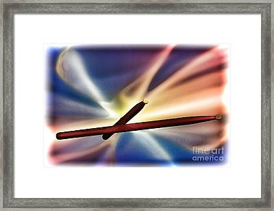 Combo Trap Drum Sticks Painting In Color 3231.02 Framed Print