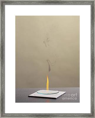 Combustion Of An Alkene Framed Print by Martyn F. Chillmaid