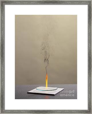Combustion Of Cyclohexene Framed Print by Martyn F. Chillmaid