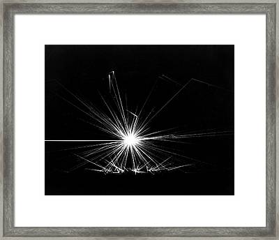 Combustion Of Liquid Metal In Air Framed Print