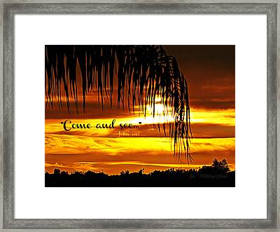 Come And See Framed Print by Sharon Soberon
