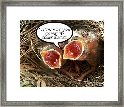 Come Back Greeting Card Framed Print by Al Powell Photography USA