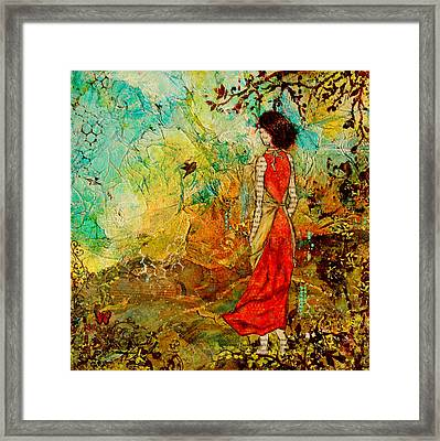 Come Back Home To You Inspiring Folk Art Painting Framed Print