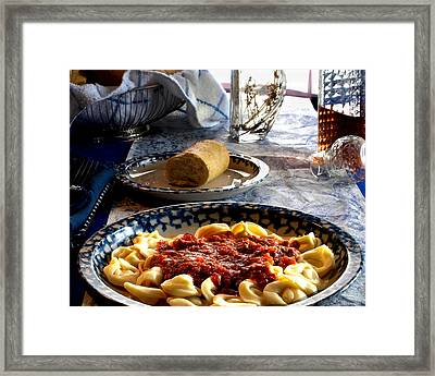 Come Dine Framed Print
