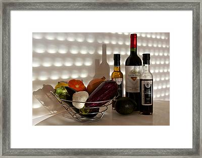 Come Dine With Me I Am Cooking Italian Tonight Framed Print by Venetia Featherstone-Witty