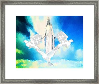 Come Find Peace Within Me Framed Print