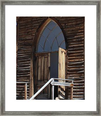Come In And Pray Framed Print