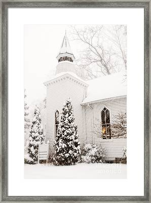 Framed Print featuring the photograph White Christmas In Maryland Usa by Vizual Studio