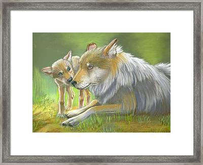 Come On Mom Please Framed Print by Ruth Seal