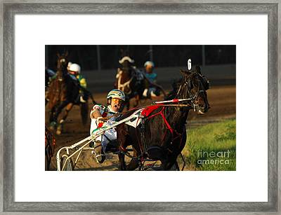 Horse Racing Come On Number 6 Framed Print by Bob Christopher