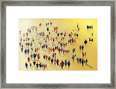 Come On You Reds Framed Print by Neil McBride