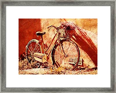 Come Ride With Me - Vintage Art Framed Print